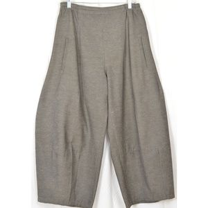 Blanque pants lantern style M gray taupe pockets f